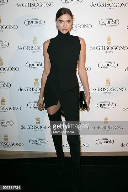 Irina Shayk attends the 'De Grisogono' La Boetie cocktail on January 28 2016 in Paris France