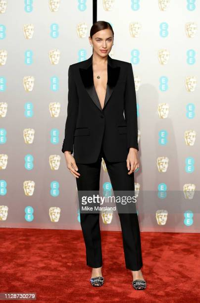 Irina Shayk attends the EE British Academy Film Awards at Royal Albert Hall on February 10 2019 in London England