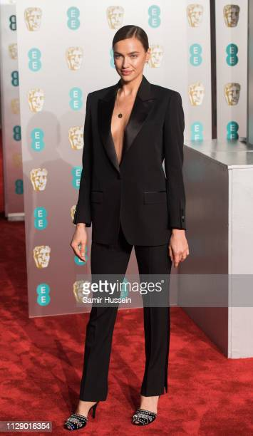 Irina Shayk attends the EE British Academy Film Awards at Royal Albert Hall on February 10 2019 in London England
