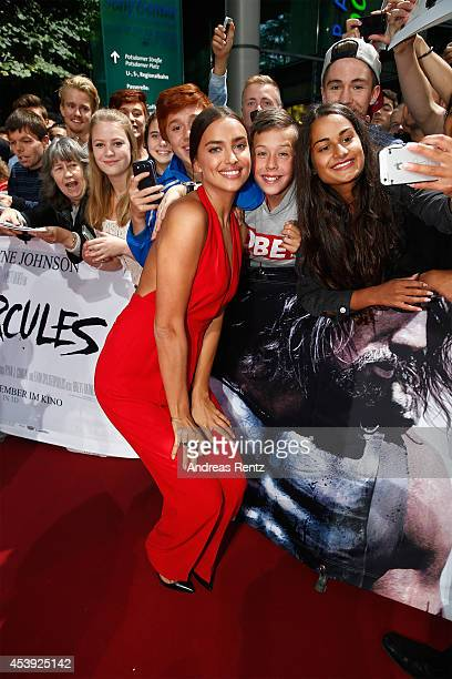 Irina Shayk attends the Europe premiere of Paramount Pictures 'Hercules' at CineStar on August 21 2014 in Berlin Germany
