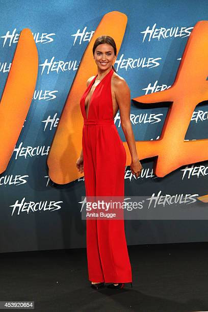 Irina Shayk attends the Europe premiere of the film 'Hercules' at CineStar on August 21, 2014 in Berlin, Germany.