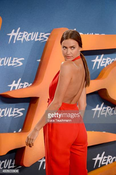 Irina Shayk attends the Europe premiere of the film 'Hercules' at CineStar on August 21 2014 in Berlin Germany