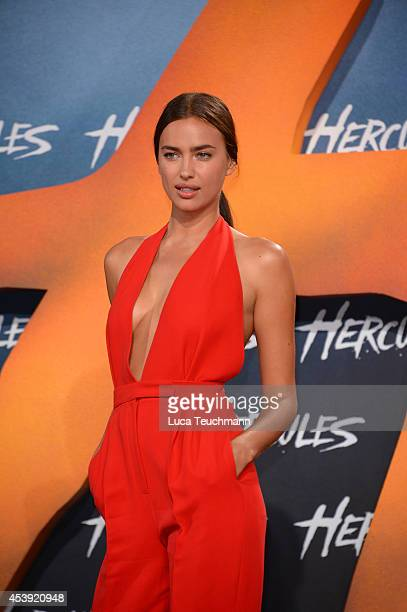 Irina Shayk attends the European premiere of the film 'Hercules' at CineStar on August 21 2014 in Berlin Germany