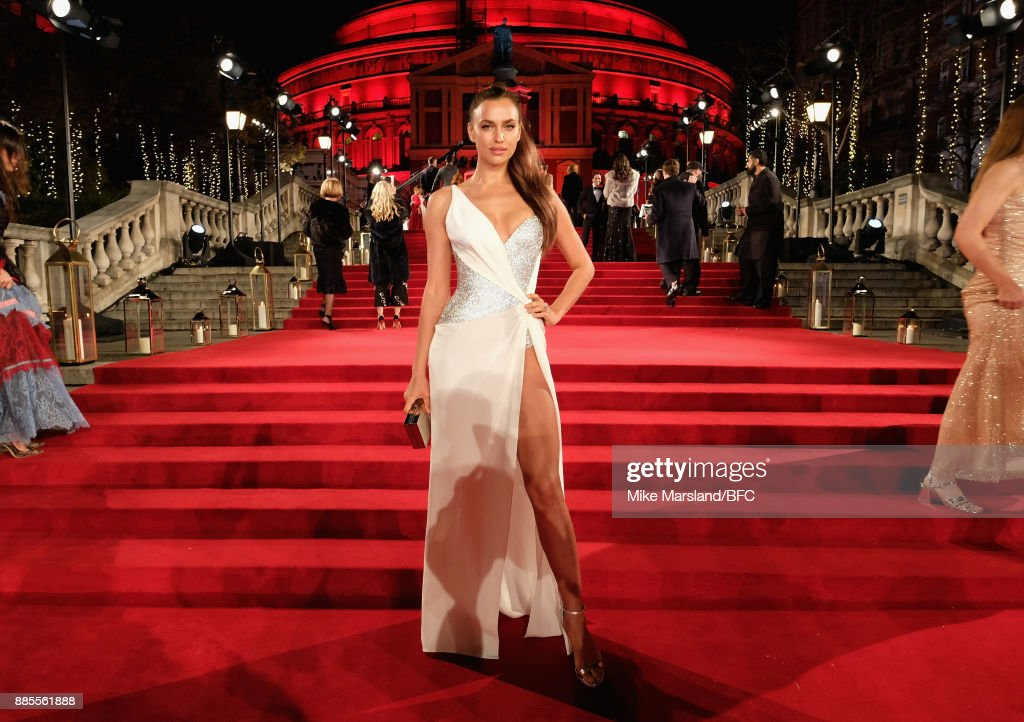 Irina Shayk attends The Fashion Awards 2017 in partnership with Swarovski at Royal Albert Hall on December 4, 2017 in London, England.