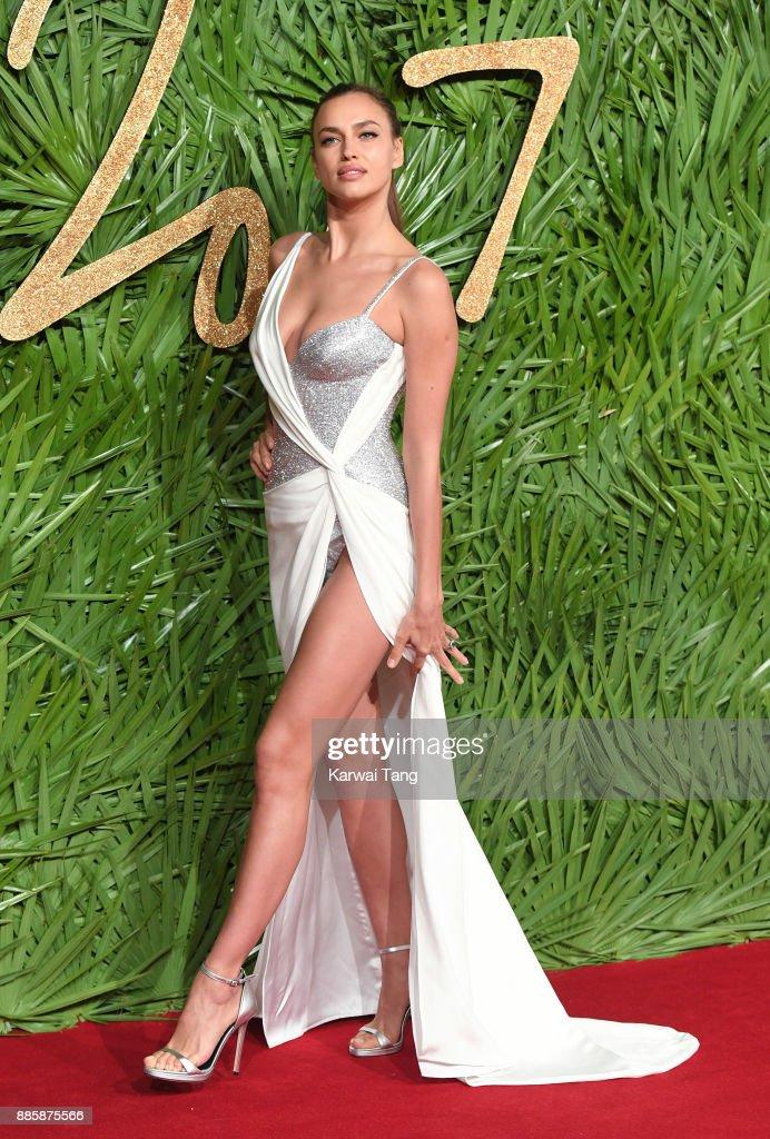 Irina Shayk attends The Fashion Awards 2017 in partnership with Swarovski at Royal Albert Hall on December 4, 2017 in London, England.