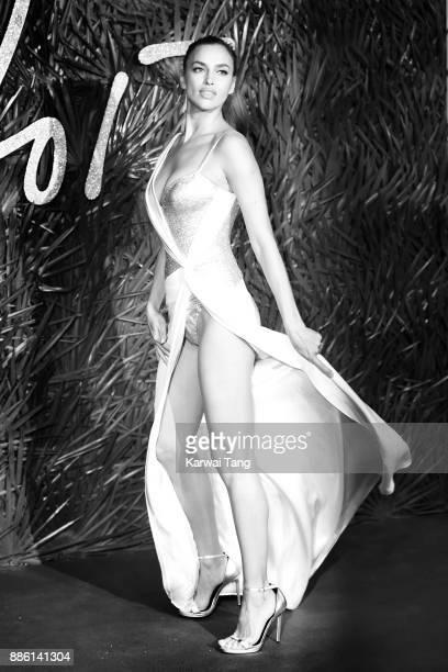 Irina Shayk attends The Fashion Awards 2017 in partnership with Swarovski at Royal Albert Hall on December 4 2017 in London England