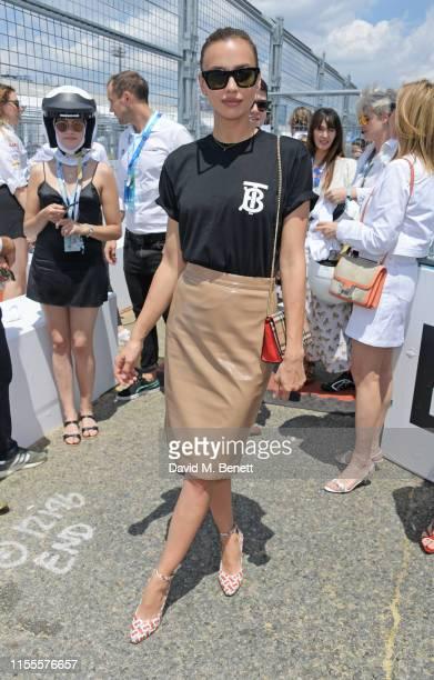 Irina Shayk attends the Formula E 2019 New York City E-Prix, the double header season finale of the 2018/19 ABB FIA Formula E Championship, on July...