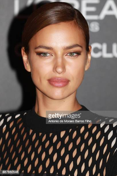 Irina Shayk attends the Gala 20th Birthday Of L'Oreal In Cannes during the 70th annual Cannes Film Festival at Hotel Martinez on May 24, 2017 in...