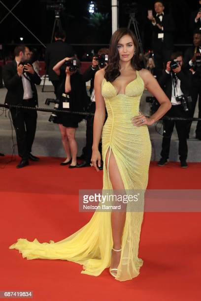 Irina Shayk attends the Hikari screening during the 70th annual Cannes Film Festival at Palais des Festivals on May 23 2017 in Cannes France