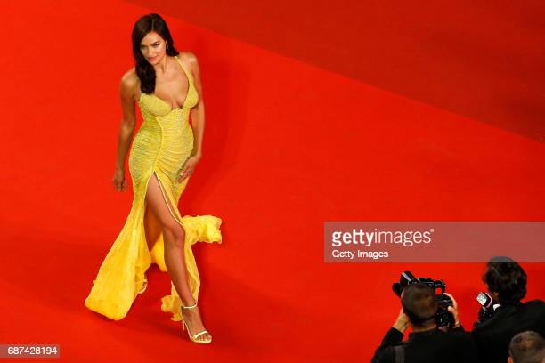 "Irina Shayk attends the ""Hikari "" screening during the 70th annual Cannes Film Festival at Palais des Festivals on May 23, 2017 in Cannes, France."