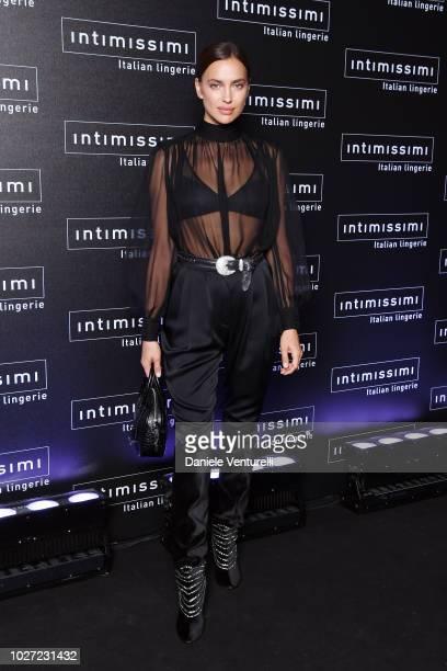 Irina Shayk attends the Intimissimi Show on September 5 2018 in Verona Italy