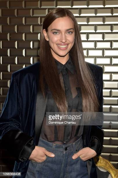 Irina Shayk attends the JeanPaul Gaultier Haute Couture Spring Summer 2019 show as part of Paris Fashion Week on January 23 2019 in Paris France
