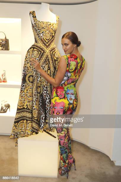 Irina Shayk attends the launch of the new Versace Sloane Street store on December 5 2017 in London England
