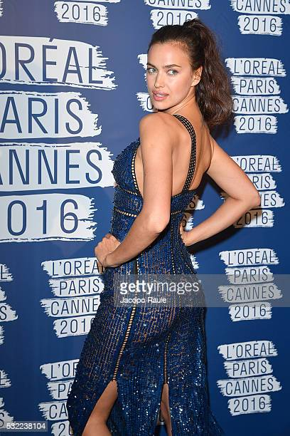 Irina Shayk attends the L'Oreal Paris Blue Obsession Party during the 69th annual Cannes Film Festival on May 18, 2016 in Cannes, France.