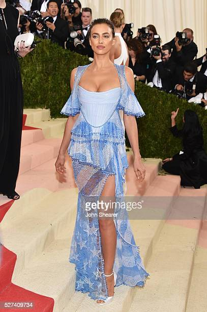 Irina Shayk attends the 'Manus x Machina Fashion In An Age Of Technology' Costume Institute Gala at Metropolitan Museum of Art on May 2 2016 in New...
