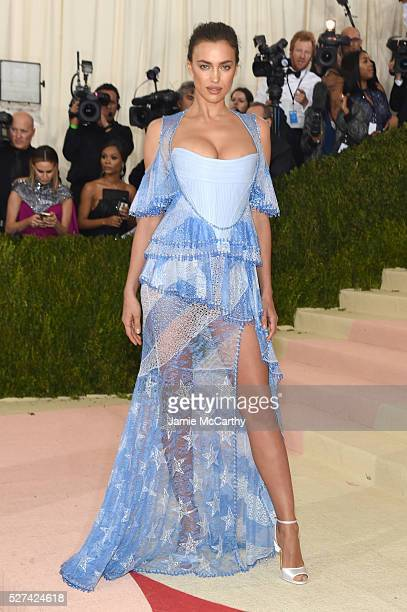Irina Shayk attends the Manus x Machina Fashion In An Age Of Technology Costume Institute Gala at Metropolitan Museum of Art on May 2 2016 in New...