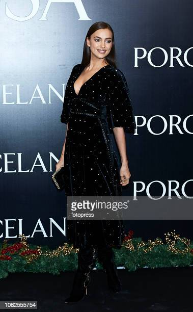 Irina Shayk attends the opening of the new Porcelanosa store on December 14 2018 in Castellon de la Plana Spain