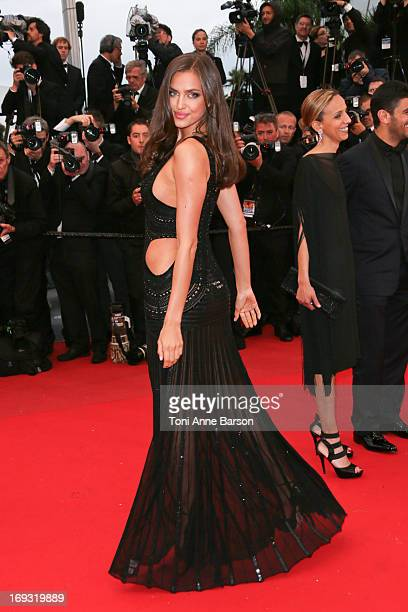 Irina Shayk attends the Premiere of 'All Is Lost' during The 66th Annual Cannes Film Festival at the Palais des Festivals on May 22 2013 in Cannes...