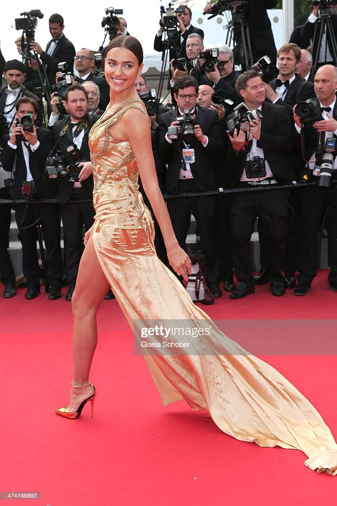 Irina Shayk attends the Premiere of 'Sicario' during the 68th annual Cannes Film Festival on May 19, 2015 in Cannes, France.