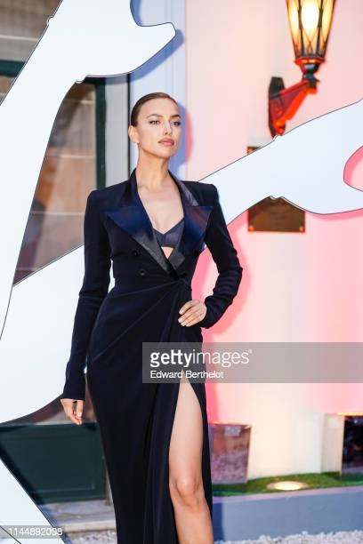 Irina Shayk attends the Scandal A Paris JeanPaul Gaultier's New Fragance Launch Dinner Party At Lassere on April 24 2019 in Paris France