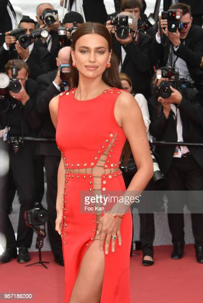 Irina Shayk attends the screening of Sorry Angel during the 71st annual Cannes Film Festival at Palais des Festivals on May 10 2018 in Cannes France