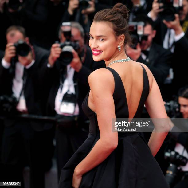Irina Shayk attends the screening of Yomeddine during the 71st annual Cannes Film Festival at Palais des Festivals on May 9 2018 in Cannes France