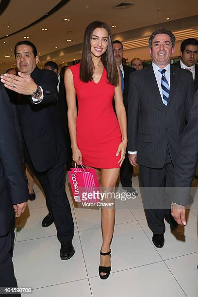 Irina Shayk attends the store tour photocall during the Liverpool Fashion Fest Spring/Summer 2015 at Liverpool Polanco on February 26 2015 in Mexico...