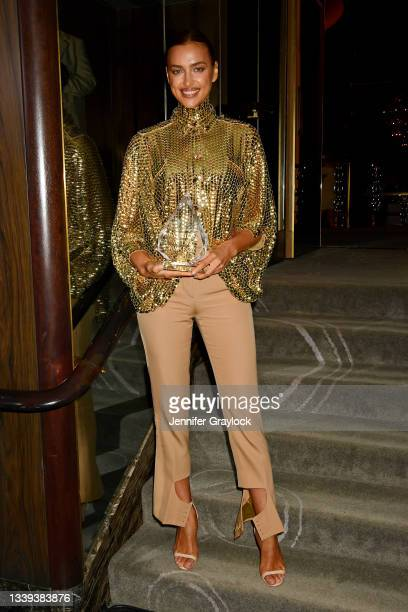 Irina Shayk attends the The Daily Front Row 8th Annual Fashion Media Awards on September 09, 2021 in New York City.