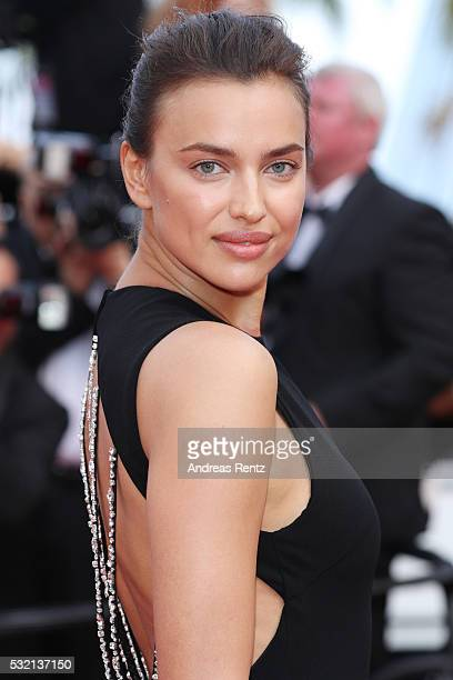 Irina Shayk attends 'The Unknown Girl ' Premiere during the 69th annual Cannes Film Festival at the Palais des Festivals on May 18 2016 in Cannes...