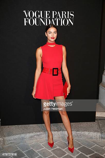 Irina Shayk attends the Vogue Paris Foundation Gala at Palais Galliera on July 6 2015 in Paris France