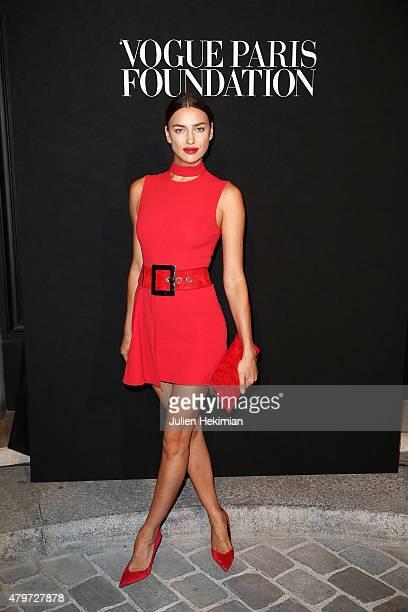 Irina Shayk attends the Vogue Paris Foundation Gala at Palais Galliera on July 6, 2015 in Paris, France.