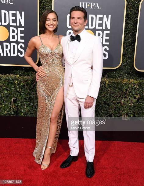 Irina Shayk Bradley Cooper arrives at the 76th Annual Golden Globe Awardsat The Beverly Hilton Hotel on January 6 2019 in Beverly Hills California