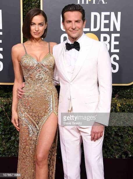 Irina Shayk Bradley Cooper arrives at the 76th Annual Golden Globe Awardsat The Beverly Hilton Hotel on January 6 2019 in Beverly Hills California