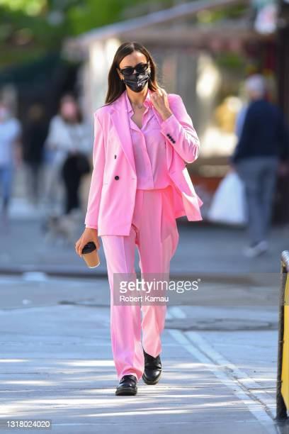 Irina Shayk is seen in Manhattan on May 14, 2021 in New York City.