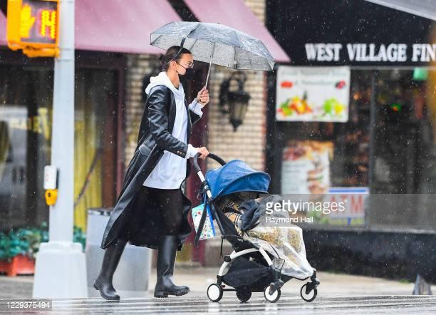 Irina Shayk is seen in the West Village on October 30, 2020 in New York City.