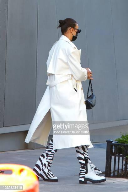 Irina Shayk is seen on May 11, 2021 in New York City.