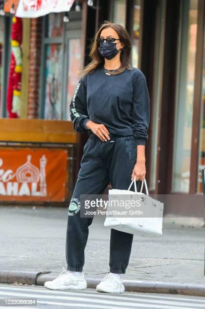 Irina Shayk is seen on May 24, 2021 in New York City.