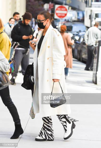 Irina Shayk is seen walking in the Financial District on May 11, 2021 in New York City.