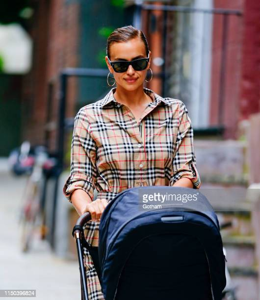 Irina Shayk is seen with her daughter Lea on June 17 2019 in New York City