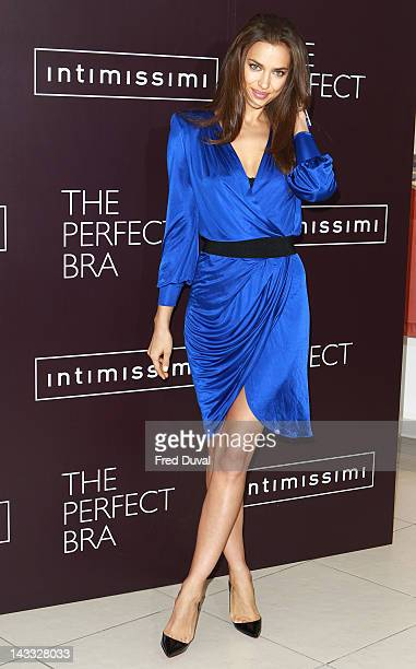 Irina Shayk launches 'Perfect Bra Collection' at Intimissimi on April 24 2012 in London England