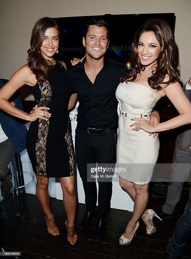 Irina Shayk, Mark Wright and Kelly Brook attend the Samsung Galaxy Note 10.1 launch party at One Mayfair on August 15, 2012 in London, England.