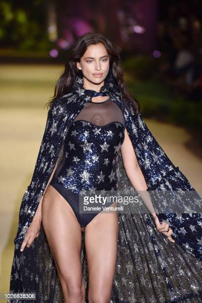 Irina Shayk model walks the runway of the Intimissimi Show on September 4 2018 in Verona Italy