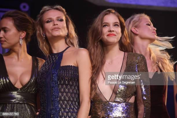 Irina Shayk Natasha Poly Barbara Palvin and Lara Lieto attend the amfAR Gala Cannes 2017 at Hotel du CapEdenRoc on May 25 2017 in Cap d'Antibes France