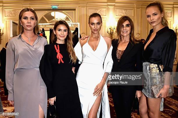 Irina Shayk Natasha Poly Miroslava Duma Carine Roitfeld Natalia Vodianova and guests attend Buro 24/7 Fashion Forward Initiative as part of Paris...