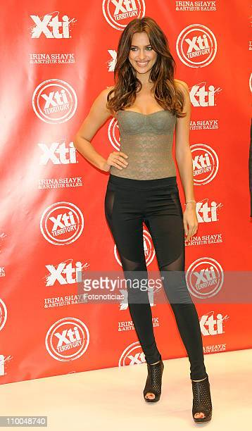 Irina Shayk presents the new 'Xti 20112012' shoes collection at IFEMA on March 14 2011 in Madrid Spain