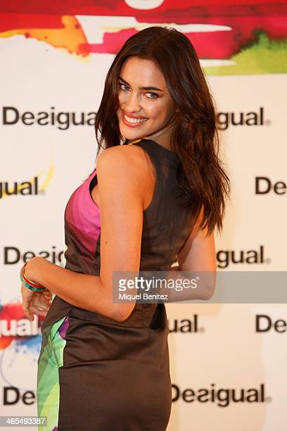 Irina Shayk presents 'Why' Collection by Desigual during the 080 Barcelona Fashion Autumm Winter 2014-2015 on January 27, 2014 in Barcelona, Spain.