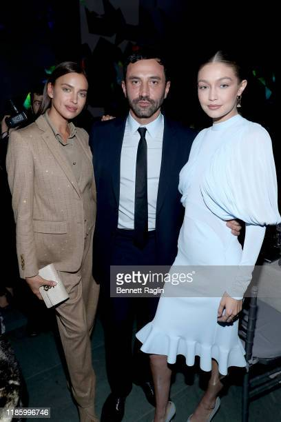 Irina Shayk Riccardo Tisci and Gigi Hadid attend the WSJ Magazine 2019 Innovator Awards sponsored by Harry Winston and Rémy Martinat MOMA on November...