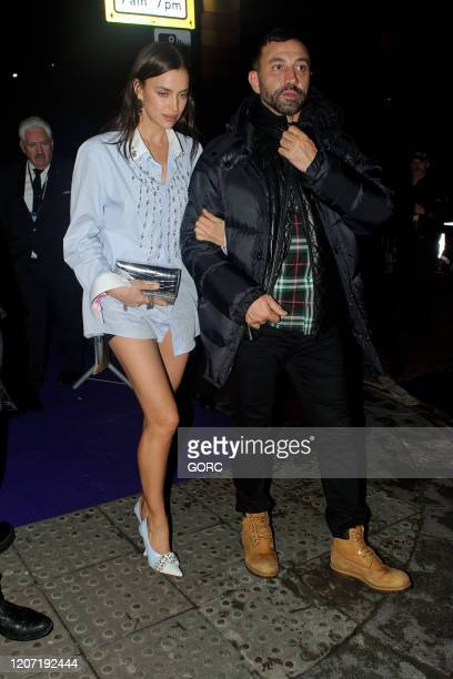 Irina Shayk seen attending the BRIT Awards 2020 Universal afterparty at the Ned hotel on February 18 2020 in London England