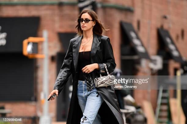 Irina Shayk seen on the streets of West Village on November 11, 2020 in New York City.