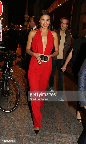 Irina Shayk sighted at Borchardt restaurant on August 21 2014 in Berlin Germany
